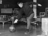 Manchester United Footballer George Best at Top Rank Bowl in Manchester Near Old Trafford Ground Photographic Print