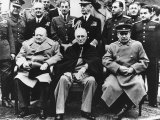 Winston Churchill PM with Franklin Roosevelt and Joseph Stalin at the Yalta Conference Photographic Print