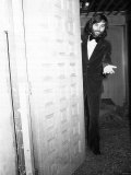 Footballer George Best Welcomes Vistors to His New Manchester Night Clubcalled Slack Alice 1973 Photographic Print
