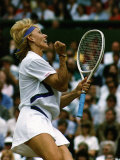 Martina Navratilova Makes It to a Record Ninth Singles Win at Wimbledon Photographic Print