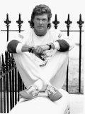 American Actor David Hasselhoff Poses During a Visit to London June 1989 Photographic Print