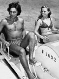George Best Sharing His Champagne Life Style with Actress Susan George in Palma Nova Majorca Photographic Print