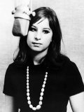 Barbra Streisand Singer Actress at 21 Making Her First Record Photographic Print