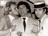 Comedian Freddie Starr Kisses England Striker Kevin Keegan Photographic Print