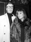 Michael Caine Actor and Girlfriend Elizabeth Ercy Photographic Print