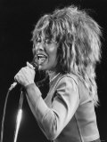 Tina Turner Singer Performing on Stage Fotografisk tryk