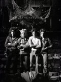 Queen Rock Group Rehearsals at Earls Court in London Stage Fotografisk tryk