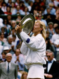 Martina Navratilova After Winning Her Ninth Wimbledon Championship Photographic Print