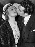 Frankie Vaughan Actor Gives Anna Neagle a Kiss at Variety Awards April 1958 Photographic Print