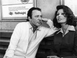 "Actress Sophia Loren with Richard Burton Rehearse For an Association TV Film ""Brief Encounter"" Photographic Print"