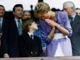 Prince William Collection Date? Princess Diana and Prince William Fotografisk tryk