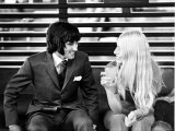 Footballer George Best with Girlfriend Eva Haraldsted January 1971 Photographic Print