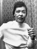 Billie Holiday Jazz Singer Entertainment Smoking Fotografická reprodukce