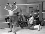 Cassius Clay aka Muhammad Ali During Training For Heavyweight Title Fight Against Henry Cooper Papier Photo