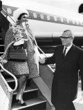 Sir Laurence Olivier Actor and Wife Joan Plowright Actress Arriving at London Airport from Hamburg Photographic Print