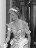 Princess Diana July 1986 Pictured Arriving at the Bolshoi Ballet in London Wearing a Corset Dress Photographic Print