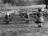 Women Keeping Fit During World War II Photographic Print