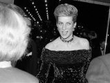 Prince Charles Princess Diana February 1988 Premier of the Film the Last Emperor Fotografisk tryk
