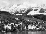 View of Montreux, on Lake Geneva, Switzerland, January 1959 Photographic Print
