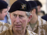 Prince Charles in Basra, Iraq. February 2004 Photographic Print