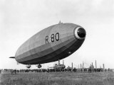 Launch of the Vickers R80 Airship at Barrow, on 19th July 1921 Photographic Print