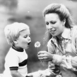 Princess Anne Together with Her Son Peter Phillips in August 1980 Photographic Print