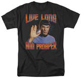 Star Trek - Live Long and Prosper Camisetas