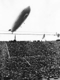 Graf Zeppelin Passing Low over Wembley Stadium During FA Cup Final Where Arsenal Beat Huddersfield Photographic Print