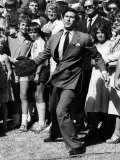 Prince Charles Throws Cow Pat in Perth, Australia March 1979 Photographic Print