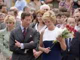 Princess Diana and Prince Charles Overseas Visit to Hungary, May 1990 Photographic Print