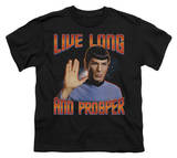 Youth: Star Trek - Live Long and Prosper T-Shirt