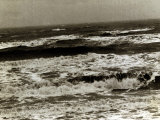 Waves Coming in on the Sussex Coast of England, 1946 Photographic Print