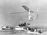 1st Man Powered Flight Across the English Channel Photographic Print
