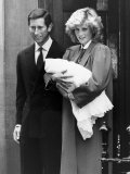 Prince Harry with His Parents Leaving St Mary's Hospital Paddington Where He Was Born Photographic Print