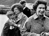 Queen Elizabeth II with Prince Edward During Their Summer Tour of Scotland Photographic Print
