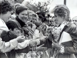 Princess Diana of Wales Visit Dr Barnardo's Home in South Shields Photographic Print