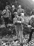 Prince Charles Hikes over Countryside to Old Mine Which Provided Gold Photographic Print