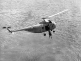 Royal Air Force Coastal Command Rescue Helicopters in Action Photographic Print