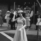 Princess Margaret Wave to the Crowds While Visiting Nairobi in Kenya During Her Africa Visit Photographic Print