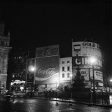 Piccadilly Circus is Blacked Out Due to Power Strike, December 1970 Photographic Print