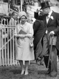 Queen Elizabeth II Walking the Course at Royal Ascot in June 1965 Photographic Print