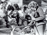 Princess Diana the Princess of Wales Visiting the Age Concern Day Centre in Durham Photographic Print