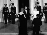 Princess Diana and Prince Charles with Ronald Reagan and Nancy Reagan at the White House Photographic Print