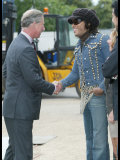 Prince Charles Meets Geri Haliwell, Lionel Richie and Lenny Kravitz During the Prince's Trust Party Photographic Print