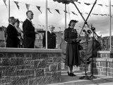 Princess Elizabeth Tour of Devon and Cornwall, Making a Speech. October 1949 Photographic Print