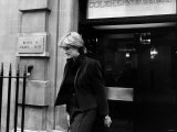 Lady Diana Spencer Princess Diana Goes Shopping - Leaving Coleherne Court Flat November 1980 Photographic Print