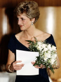 Princess Diana Royalty Attends a Concert at the Royal Festival Hall May 1991 Photographic Print