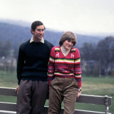 Prince Charles and Lady Diana Spencerwearing Thick Wool Sweaters Cords at Balmoral May 1981 Photographic Print
