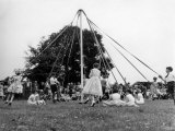 Maypole Dancing at Wishford, Wiltshire Photographic Print
