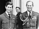 Prince Charles, the Prince of Wales, with His Father Prince Philip, the Duke of Edinburgh 1971 Photographic Print